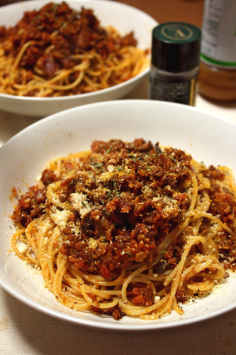 Bolognese with Boiled Vegetable Flavor