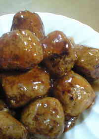 Meatballs in Thick Shiny Sauce, Made in Just One Frying Pan