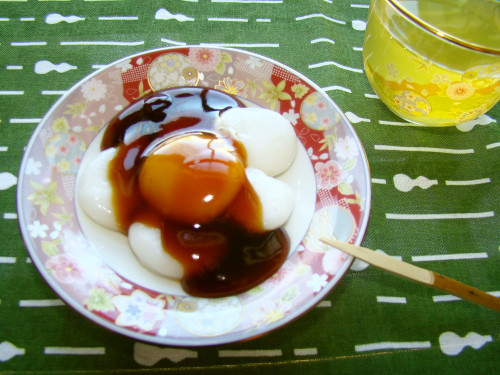 Delicious Mitarashi Dango With Thick Sauce