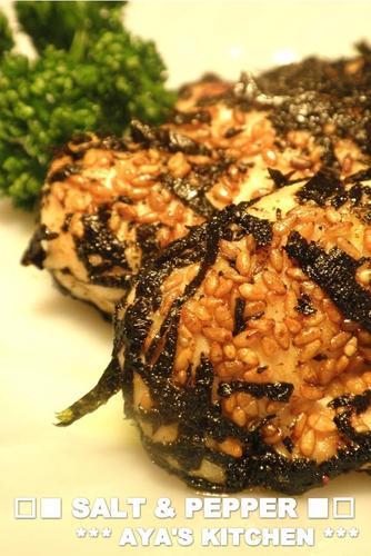 Pan-Fried Chicken Tenders With Sesame and Nori Seawee