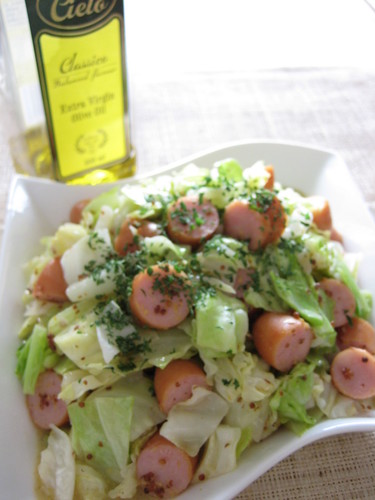 Cabbage and Honey Mustard Salad